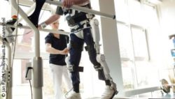 Photo: Training with a HAL Exoskeleton on a treadmill