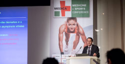 Foto: Keynote speaker at MEDICA MEDICINE + SPORTS CONFERENCE