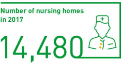 Number of nursing homes in 2017