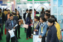 Crowds of visitors at MEDICAL FAIR INDIA 2019 in New Delhi (Picture: Messe Düsseldorf India).