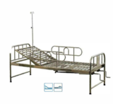 Stainless Steel Two Functions Manual Bed