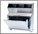 AD-825/02 COMPARTMENT FOR OVERSHOES, BEANIES,MARS WITH WASTE CABINET - 304 QUALITY STAINLESS STEAL