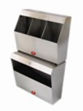 AD-453 COMPARTMENT FOR OVERSHOES, BEANIES AND MASK - 304 QUALITY STAINLESS STEAL